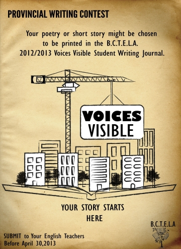 Voices Visible Writing Contest Poster - Secondary